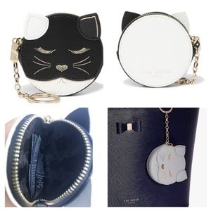 NWT Ted baker London Tabbiee cat coin key ring